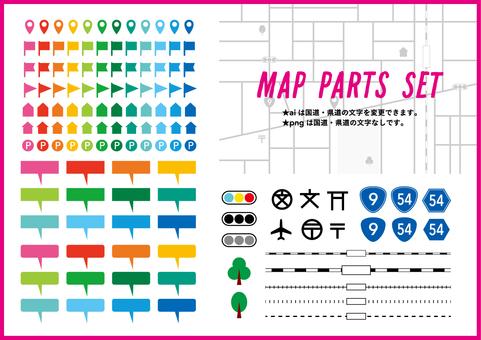Map symbol set