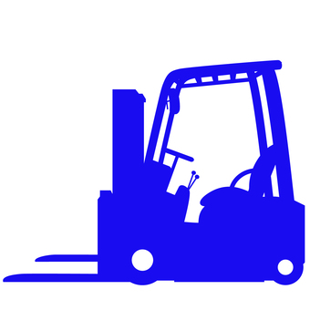 Forklift Silhouette Blue