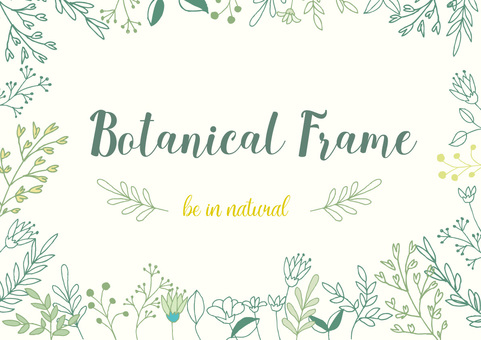Hand-painted botanical frame