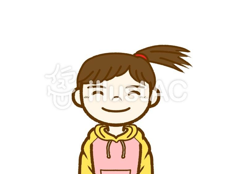 女の子笑顔イラスト No 1013599無料イラストならイラストac