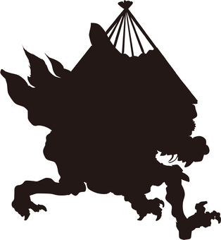 Ukiyo-e character silhouette part 109