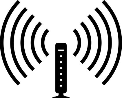 Wireless lan wifi router silhouette
