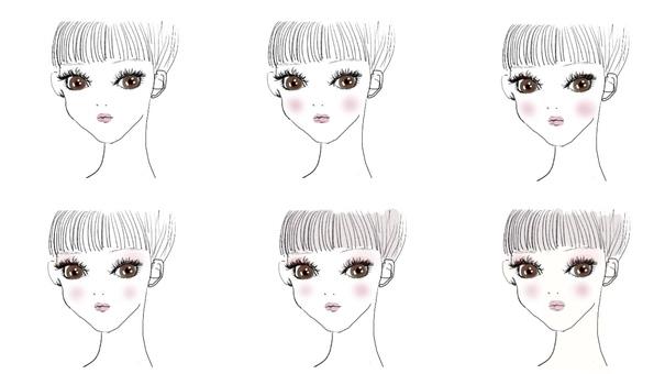Flow of lady make-up (flow)