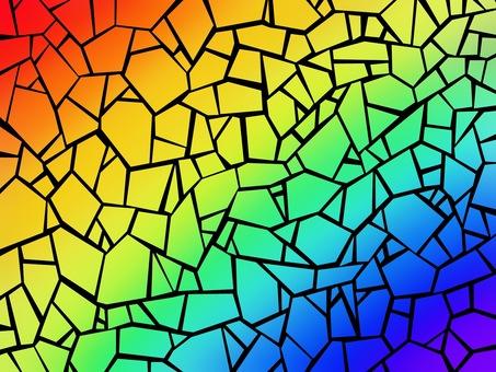 Rainbow mosaic gradient