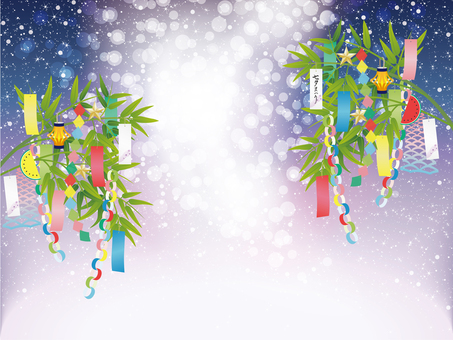 Tanabata decoration and Milky Way image frame
