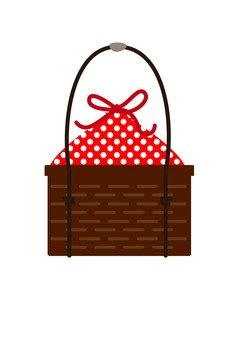 Basket bag (red)