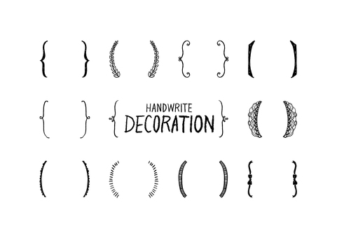 Handwritten decorations