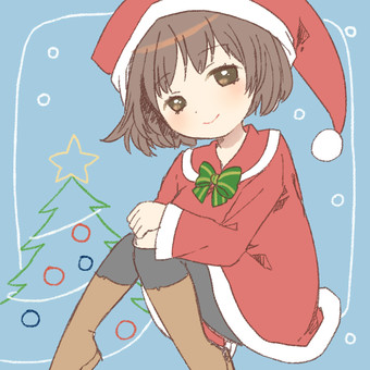 Santa clothes girl