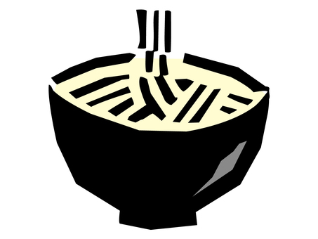 Rustic illustration of noodles