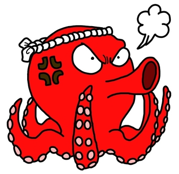 An angry octopus