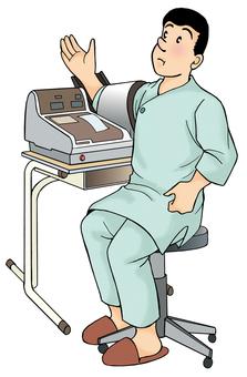 Ningen dock Blood pressure test