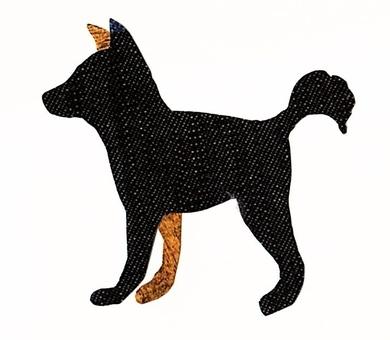 犬 カラーシルエット 黒×茶