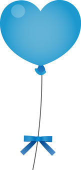 Heart balloon (blue)