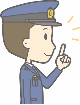 Policeman Male a - Finger Position Right Horizontal - Bust
