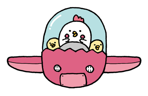 Chicken parent and child airship