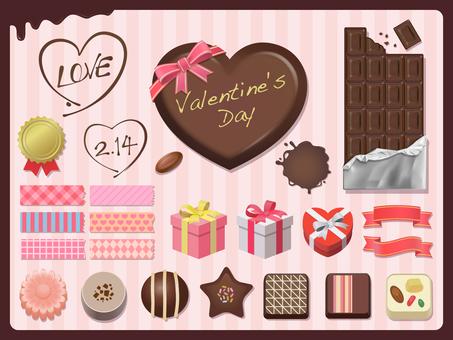 Valentine's design material