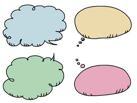 Speech balloon type 4 color
