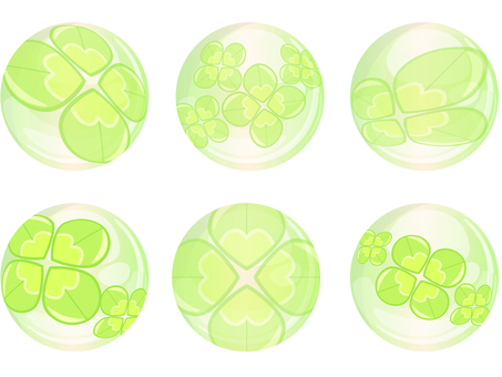 Four leaf clover decoration 02