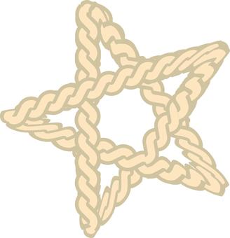 Rope braided star