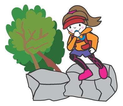 Trail runner girls