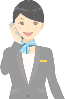 Reception staff / smartphone / call / phone