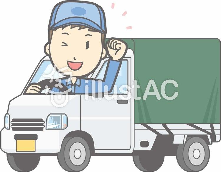 車01-軽トラ3-ガッツ-全身のイラスト