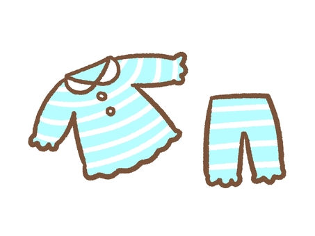 Light blue border pajamas
