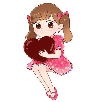 Valentine girl (chocolate)