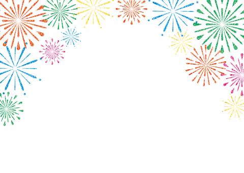 Fireworks frame (upper white)