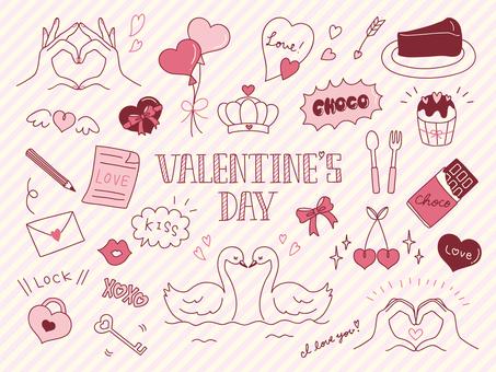 Handwritten Valentine's Set