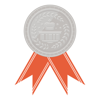 Sparkling silver medal material