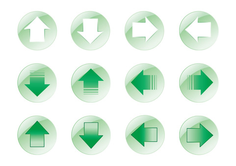 Arrow set button Green