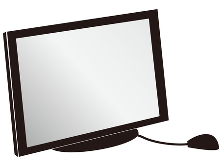 Personal computer monitor (with mouse)