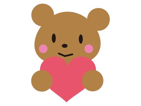 Kuma with a heart