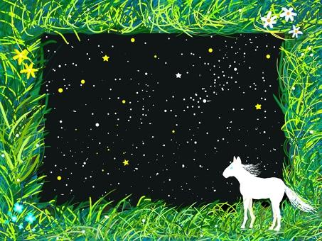Hakuba and the night sky