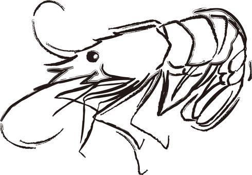 Shrimp, salmon, shrimp, shrimp, prawn