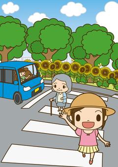 Traffic safety pedestrian crossing 8