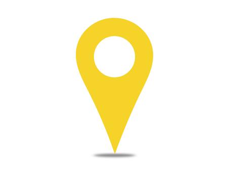Map pin pin map shadow Yes yellow