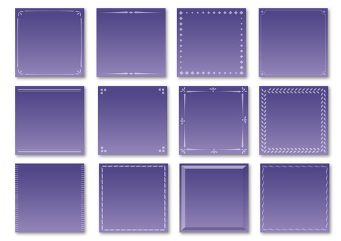 Frame square packing purple