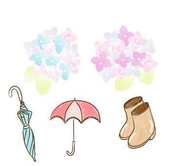 Rainy season motif