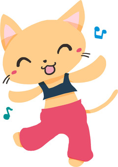 Dance cat (red)