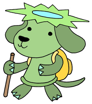 Dog character / hiking