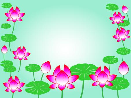 蓮の花フレーム