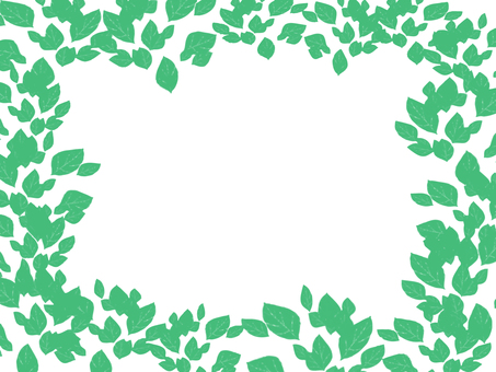Background frame with leaves
