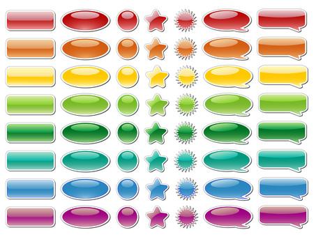 Button 7 types 8 colors