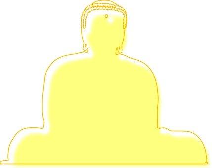 Big Buddha silhouette