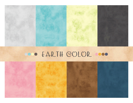 Watercolor style pattern 2 earth color