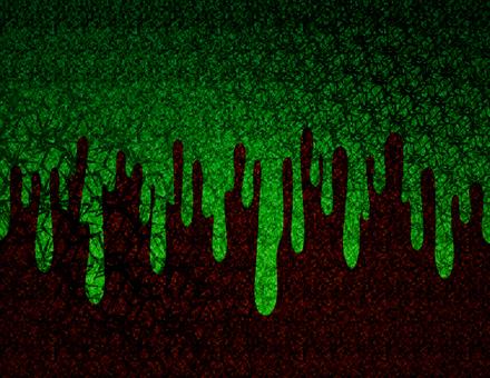 緑のドロドロしたホラーな背景
