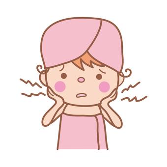 Women suffering from dry skin