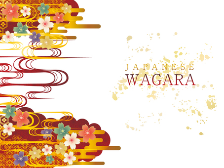 Japanese Pattern Background Material 001